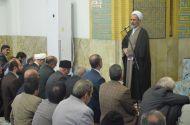 تصاویر / حضور آیت الله اعرافی در مسجد جامع مهرجرد