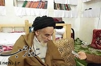 آیت الله اعرافی با وجود سن بالایشان شخصا در جبهه ها حضور یافتند